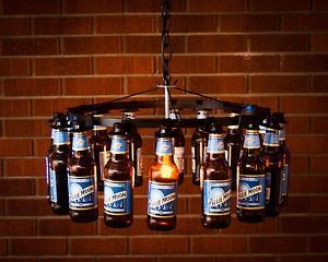 Beer bottle chandelier no wiring beer rack chain light lighting beer beer bottle chandelier no wiring beer rack chain light lighting beer decor mozeypictures Image collections