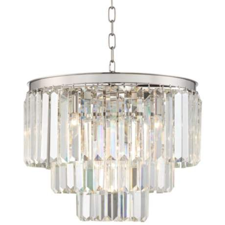 Canberra 19 3 X2f 4 Quot Wide Chrome 12 Light Crystal Chandelier