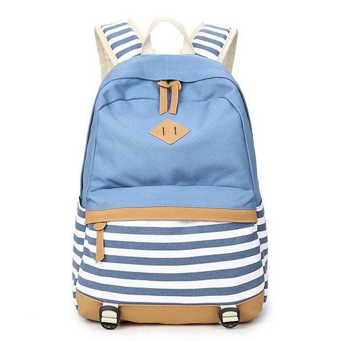 01d46e38c0 Abshoo Lightweight Canvas Backpacks for Girls School Rucksack Bookbags  (Black )