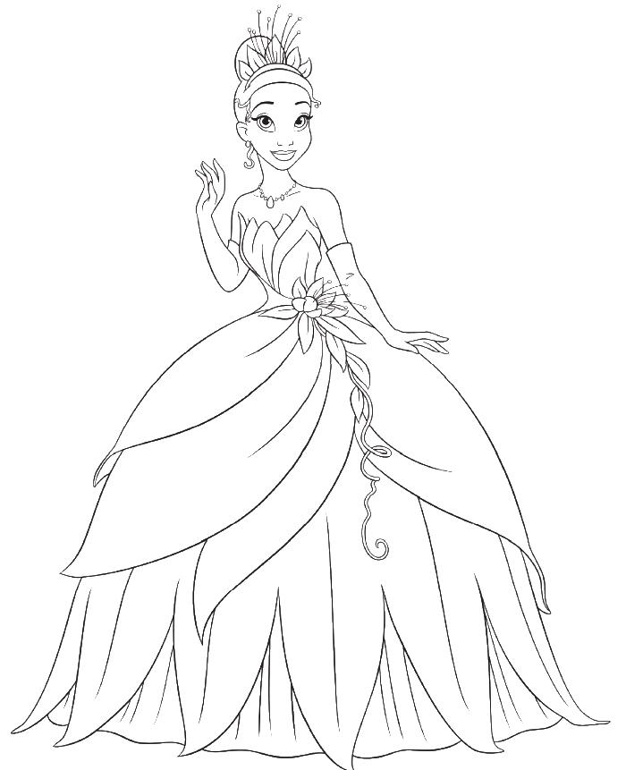 Princess Tiana Coloring: Princess Tiana Berias With So Beautiful Coloring Pages