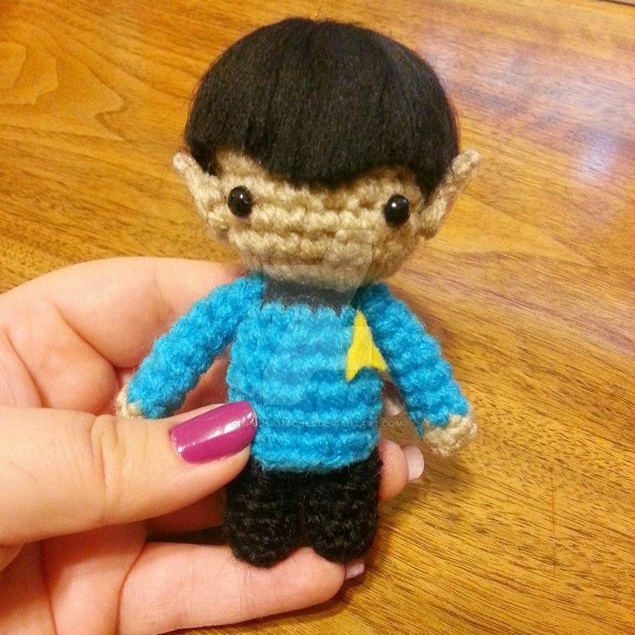Wee Lil Kawaii Spock Star Trek Amigurumi by Spudsstitches.deviantart ...
