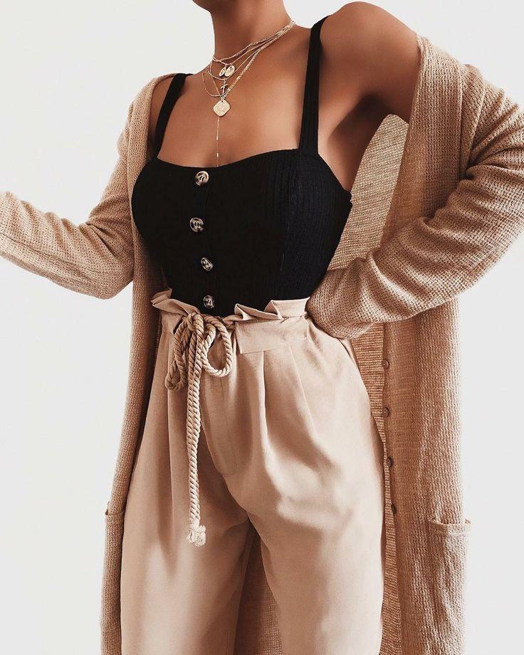 Buenas ideas de moda que te hacen lucir genial, #cool #Damestas #cute  – Moda