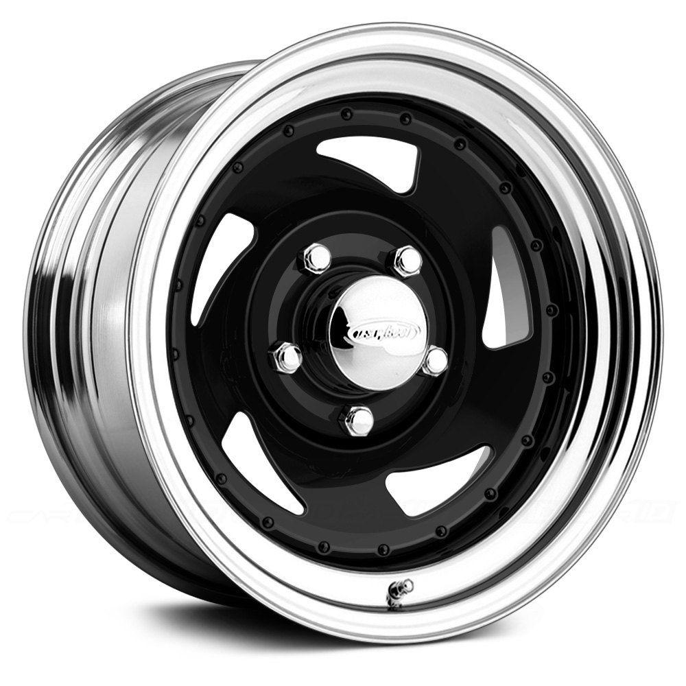 Us wheels® blade gloss black with chrome lip