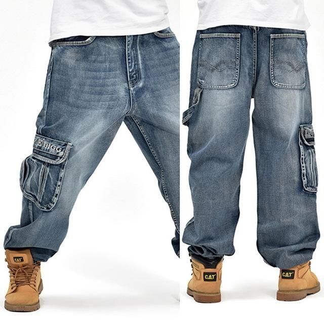Large Size Fashion Loose Big Pockets Jeans Sunshine S Boutique Amp Gifts Mens Pants Fashion Hip Hop Jeans Mens Fashion Jeans