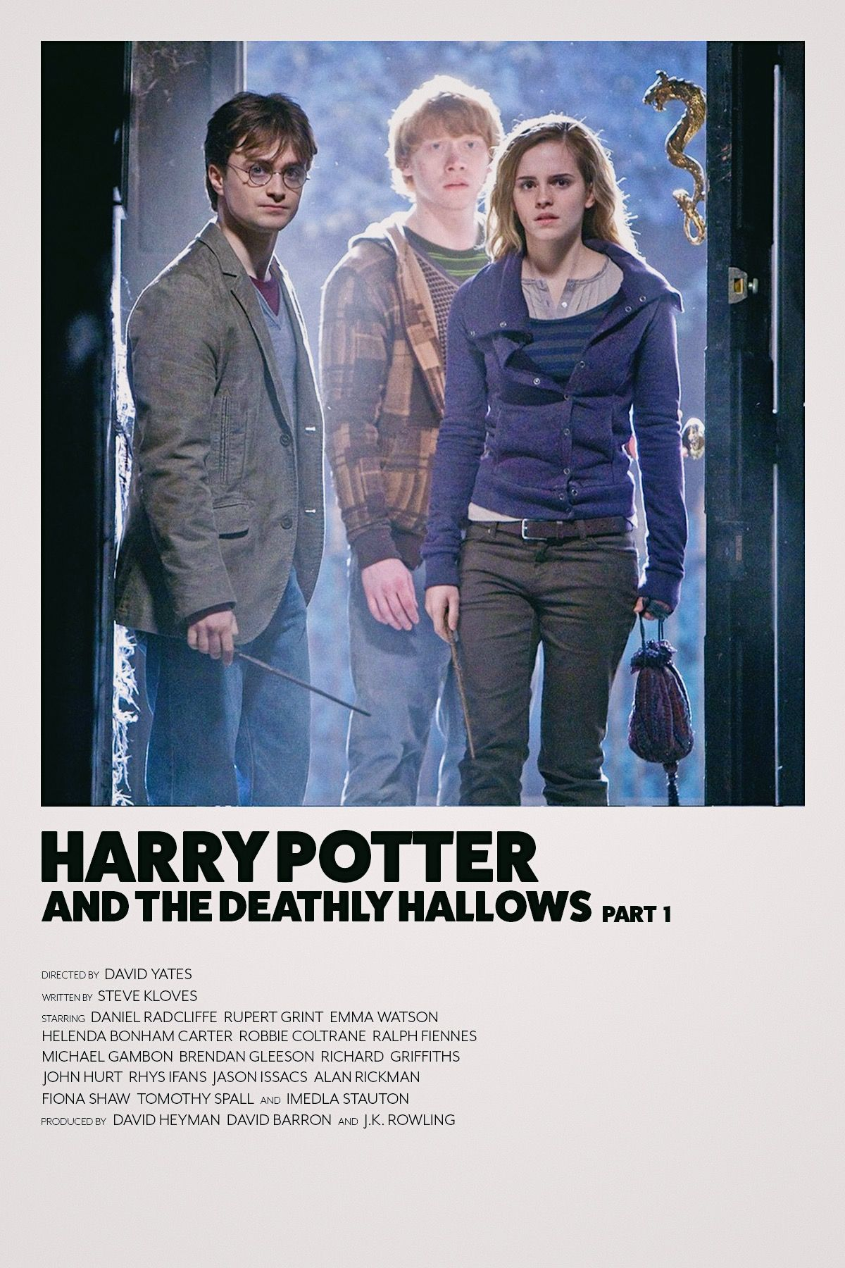 Deathly Hallows Part 1 Minimalist Movie Poster Harry Potter Movie Posters Movie Posters Minimalist Harry Potter Movies