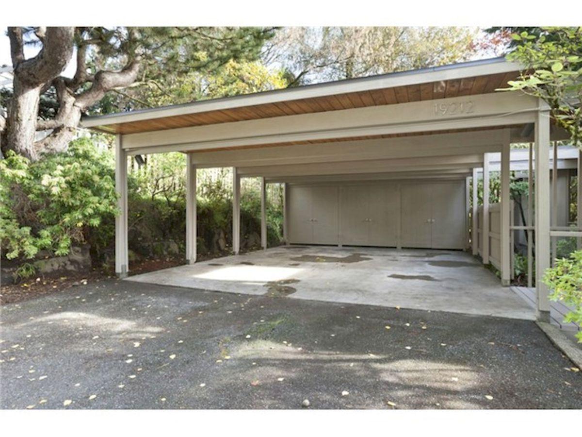 Adorable modern carports garage designs ideas 34