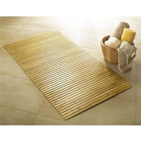 kleine wolke bamboo wood bath mat 500 x 800mm nature 5043 rh pinterest com