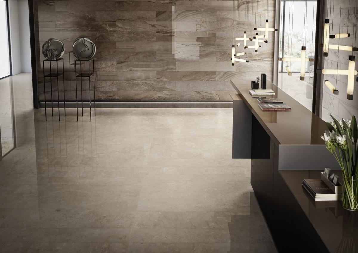 Piastrelle soggiorno ~ Piastrelle i marmi la faenza living moderno ceramica gres