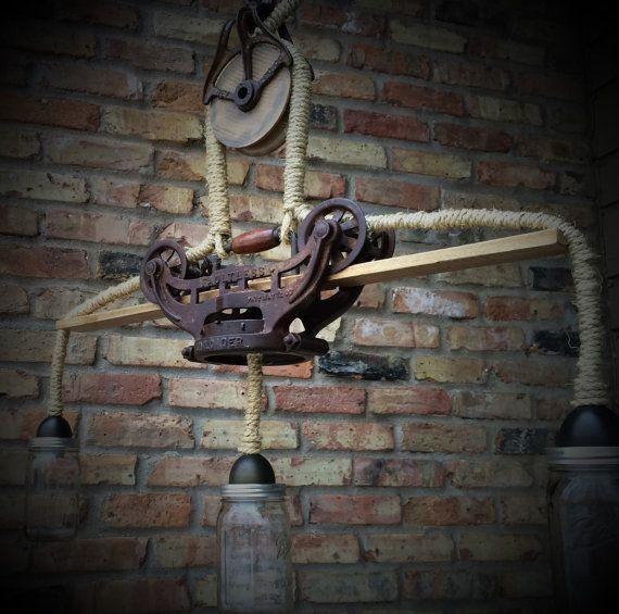 Industrial Lighting Lighting Rustic Light Steampunk: Steampunk Light Rustic Chandelier Lighting Cast Iron Hay