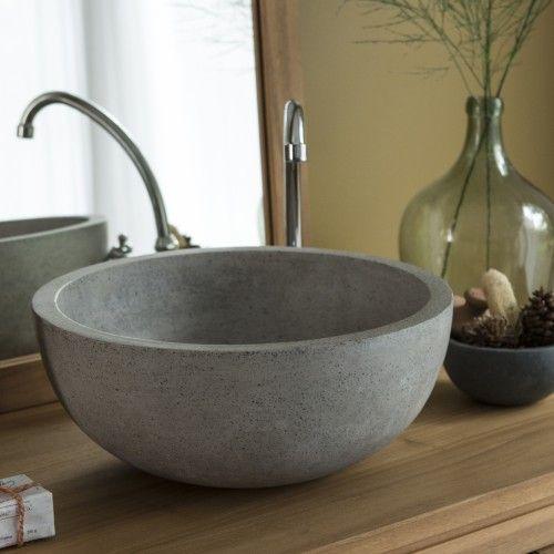 Waschbecken Grau terrazzo waschbecken isis grau - - tikamoon | einrichtungsideen
