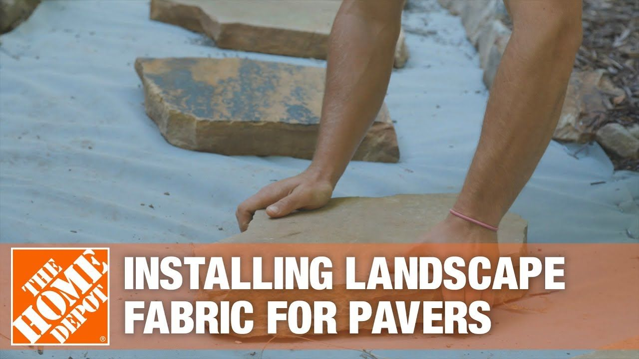 Handyman Services How To Install Landscape Fabric For A Step Stone