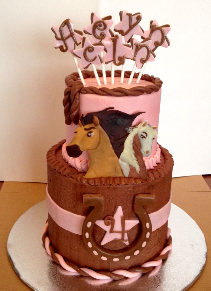 Spirit Cake Horse Country Birthday Party Parties Cowgirl