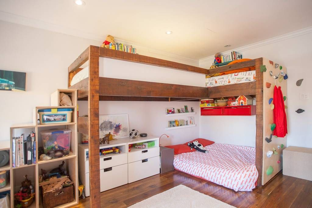 Surprising Bunk Bed Climbing Wall Kids Room Kids Bedroom Cute Home Interior Design Ideas Inesswwsoteloinfo