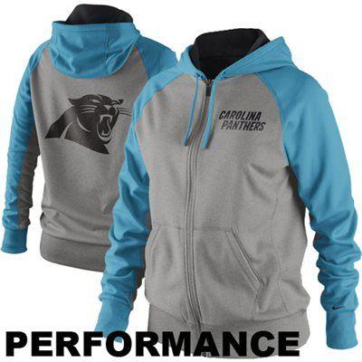 quality design c8079 6e49f Nike Carolina Panthers Ladies Die-Hard Full Zip Performance ...