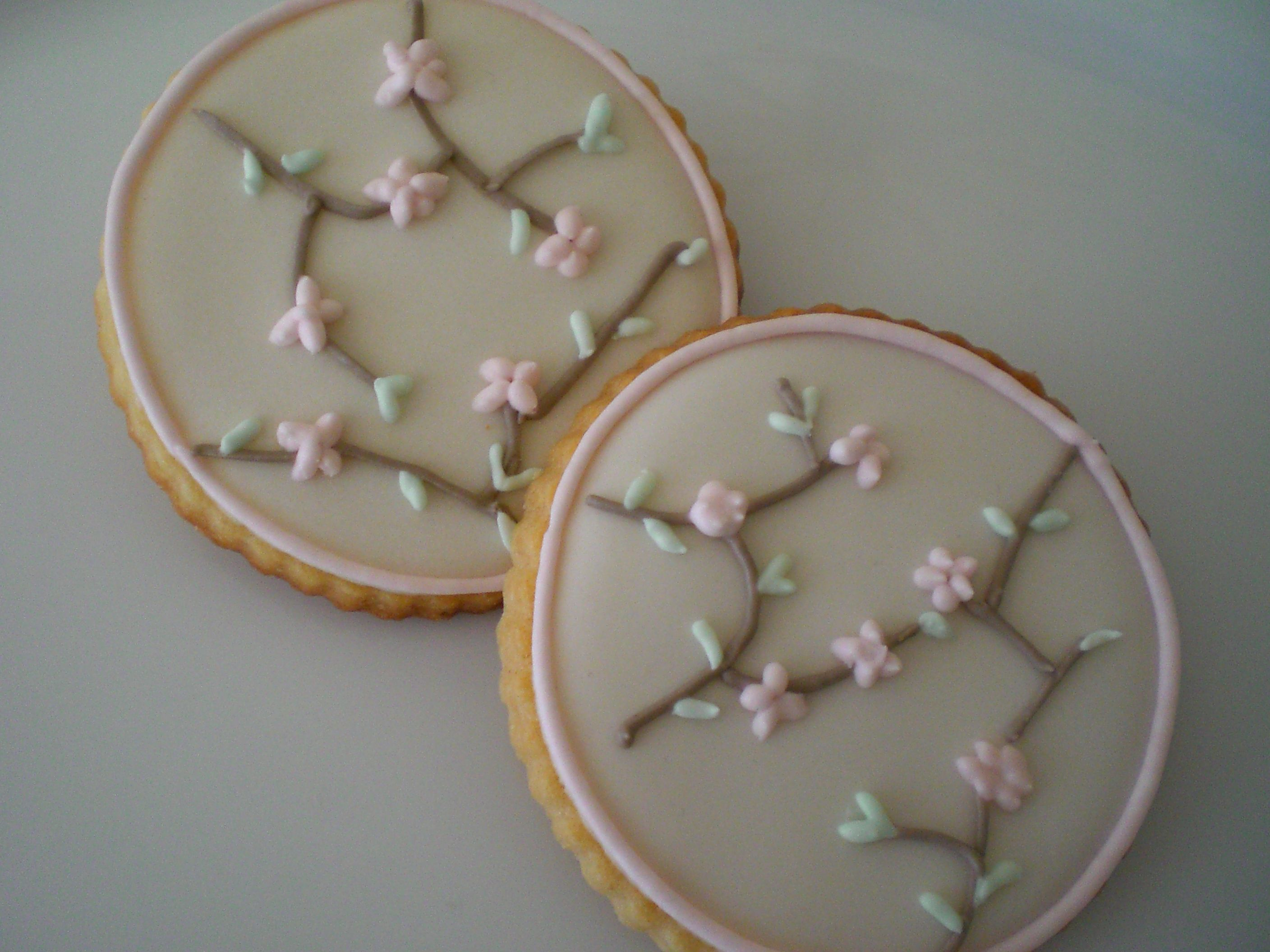 cherry blossom sugar cookie pictures   Cherry Blossom Cookies