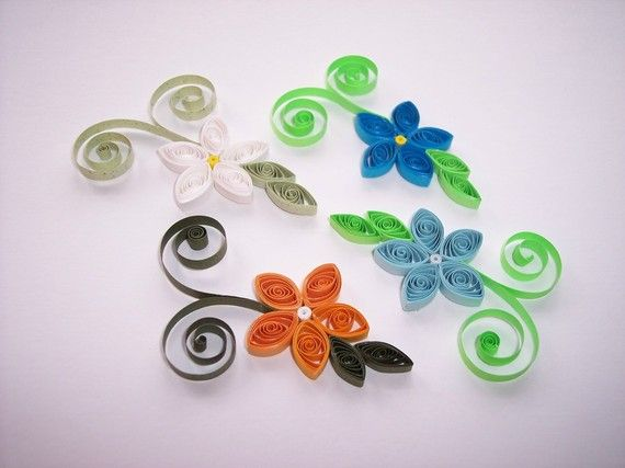 Fiori Quilling.Quilling Simple Flowers Quilling Craft Quilling Blue Flowers