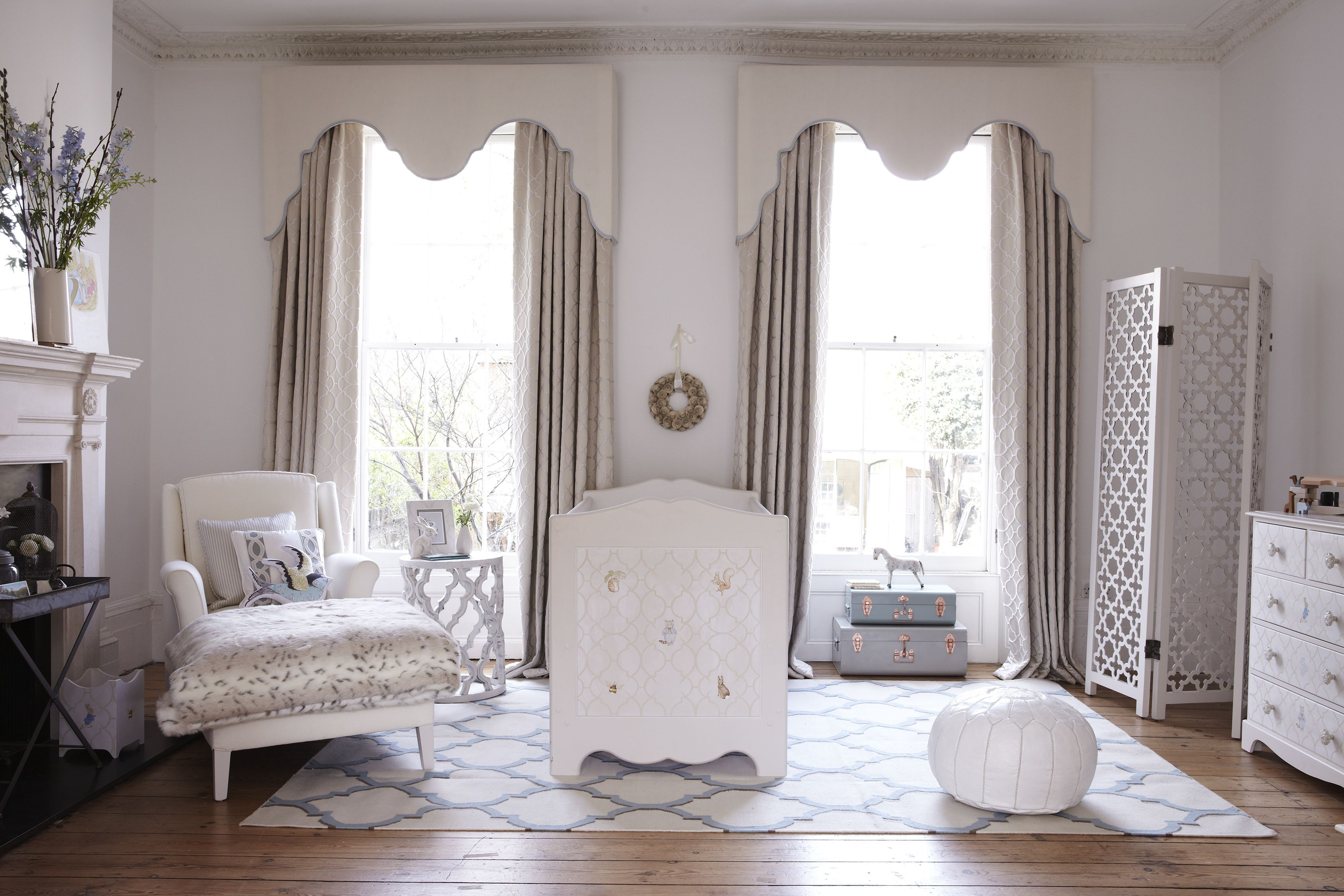 Captivating Dragons Of Walton Street Have Used Our Arabesque Rug In Their Beautiful,  Serene Nursery.