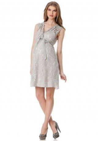 4148bcc71b01 Lace V-Neck Empire A-Line Short Maternity Bridesmaid Dress - Bridesmaid -  WHITEAZALEA.com