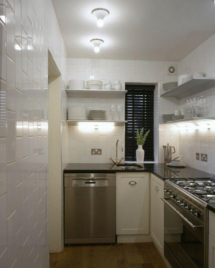 iluminación LED en la cocina pequeña moderna | decoracion | Pinterest