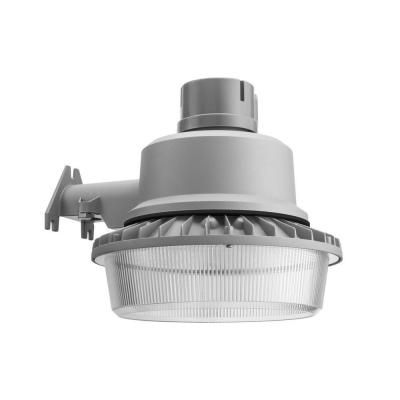 Lithonia Lighting Wall Post Mount Outdoor Led Grey Area Security Light Olal2 40k 120 Per M4 The Home Depot Lithonia Lighting Security Lights Area Lighting