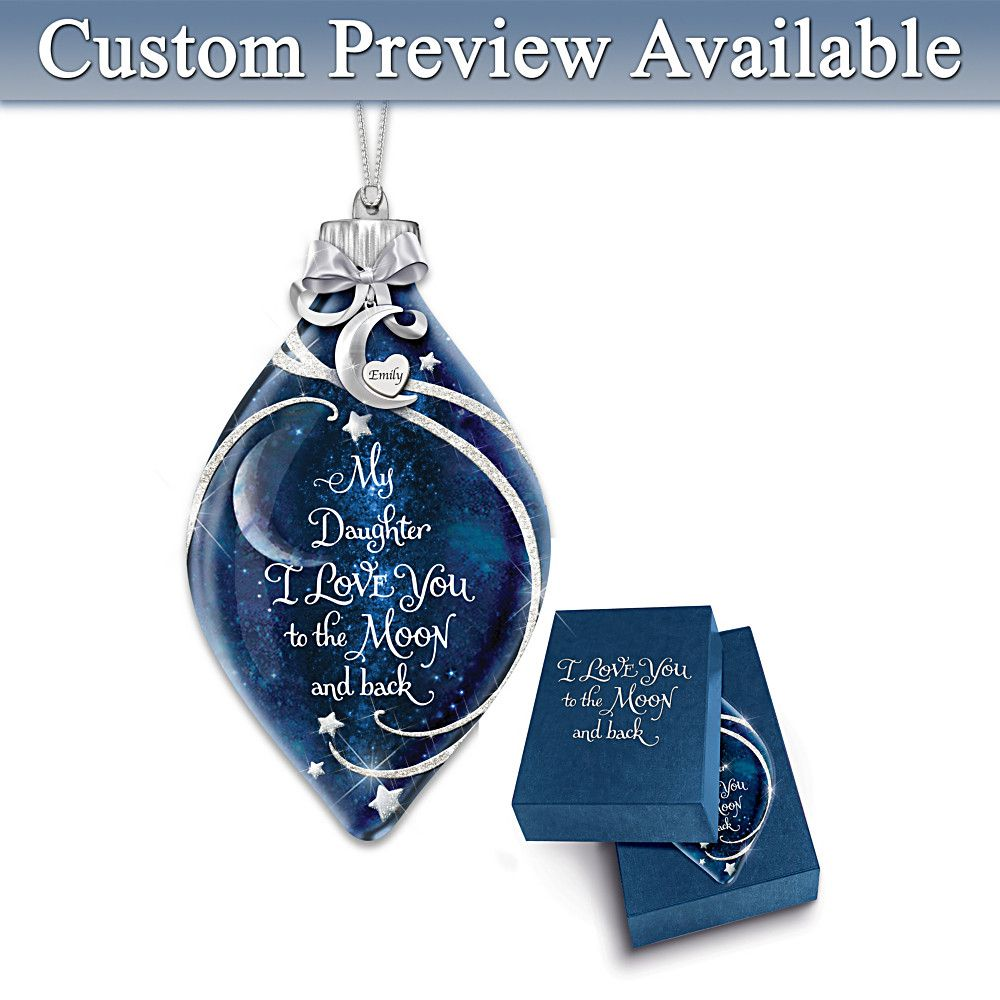 Personalized Granddaughter Christmas Ornaments 2020 Granddaughter, I Love You Illuminated Personalized Ornament in
