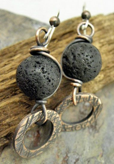Lava Wish Lava Rock antiqued Copper and by ThePurpleLilyDesigns, $22.75