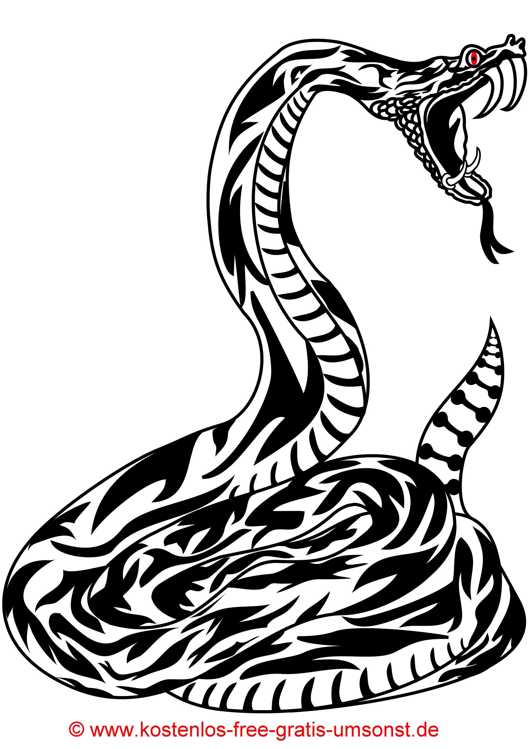 Kostenlose Schlangen Tattoobild Tattoovorlage Schwarz Tattoopicture Black Snake Tribaltattoo Tattomotive Tattoo Templates Black Snake Tattoo Snake Tattoo