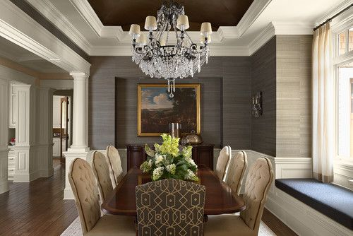 Dining Room Grasscloth Wallpaper Design Pictures Remodel Decor And Ideas