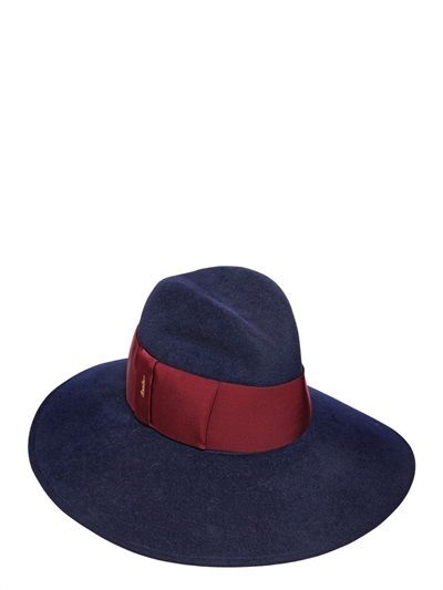 21a668f8f Borsalino Velour Lapin Fur Felt Wide Brim Hat on shopstyle.com ...