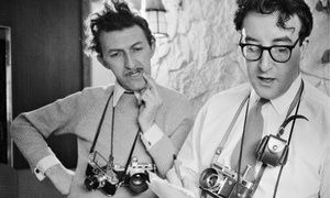 Thurston Hopkins, left, with Peter Sellers in 1956.