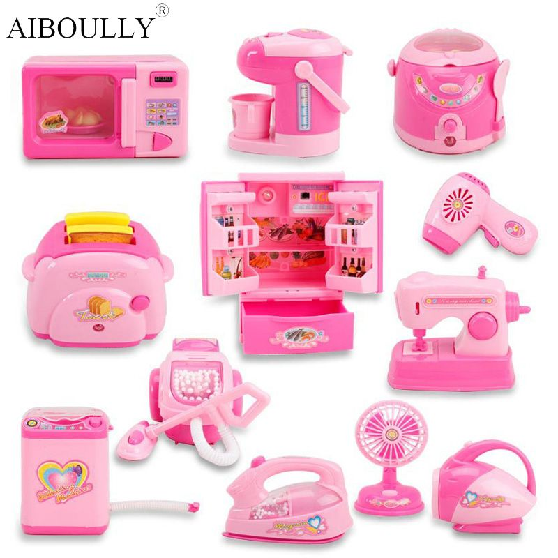Click To Buy Mini Kitchen Toys Light Up Sound Plastic Simulation Home Appliances Kids Children Play House Toy Kitchen Toy Kitchen Set Pretend Play Toys