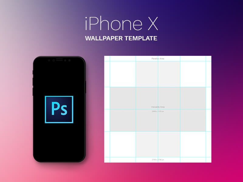 Iphone X Parallax Wallpaper Template Free Iphone Templates Iphone