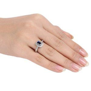 Sterling Silver, Diamond and Sapphire Ring , (.06 cttw, HI Color, I3 Clarity) - http://www.wonderfulworldofjewelry.com/jewelry/wedding-anniversary/promise-rings/sterling-silver-diamond-and-sapphire-ring-06-cttw-hi-color-i3-clarity-com/ - Your First Choice for Jewelry and Jewellery Accessories