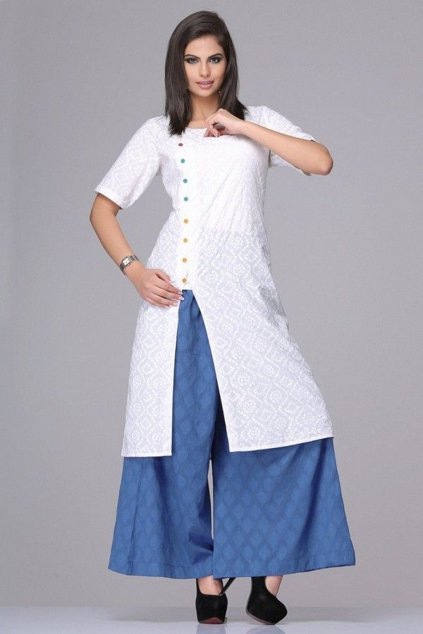 04e08dcf0 Kurtis With Palazzo Pants For Girls | Dress | New party wear dress, Kurta  designs women, Designer dresses