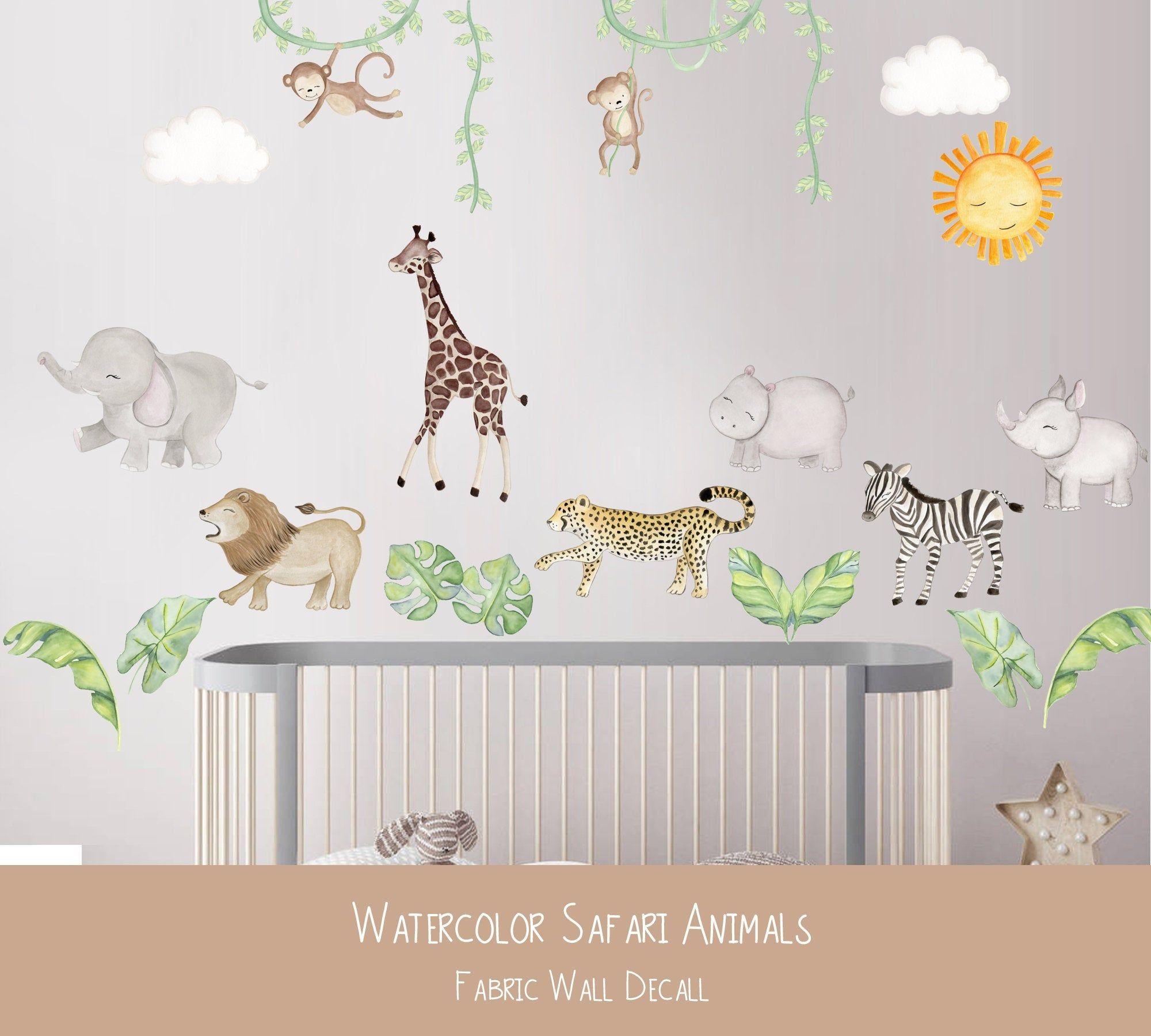 Safari Fabric Wall Decals African Animal Nursery Art Jungle