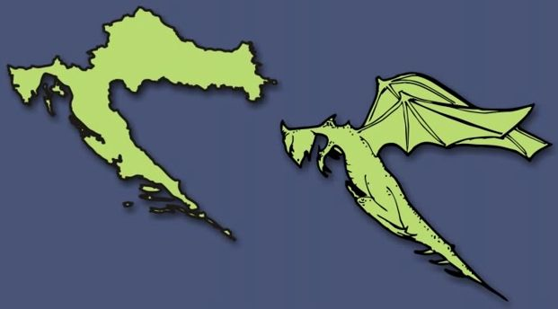 Zackabier Croatia Things That Look Like The Countries Of Europe - Us map dragon