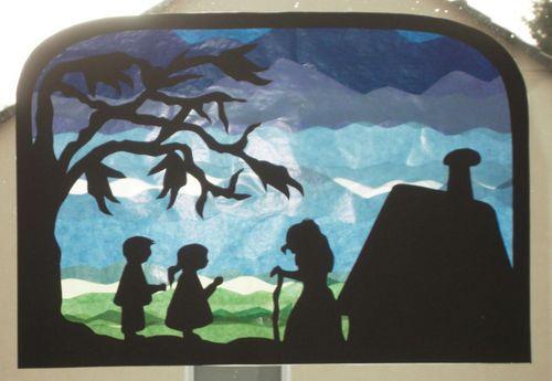 Marchen Fensterbild Transparente Waldorf Aschenputtel Rumpelstilzchen Sterntaler Fensterbilder Hansel Und Gretel Fensterbilder Weihnachten