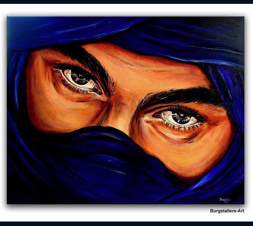 Kunst Gemälde burgstaller original acryl gemälde bilder painting kunst beduine