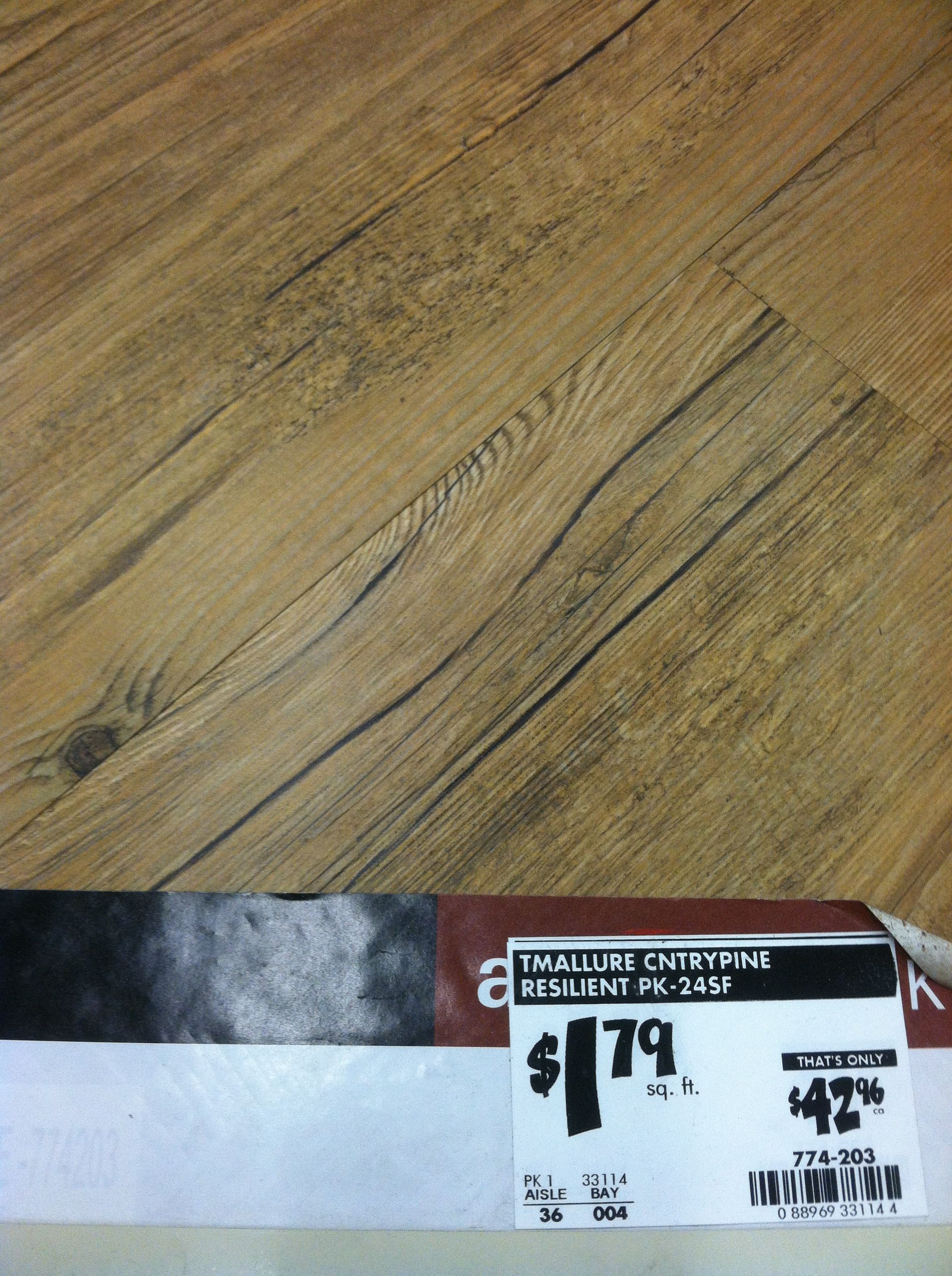 """""""The TrafficMaster Allure 6 in. x 36 in. Country Pine"""