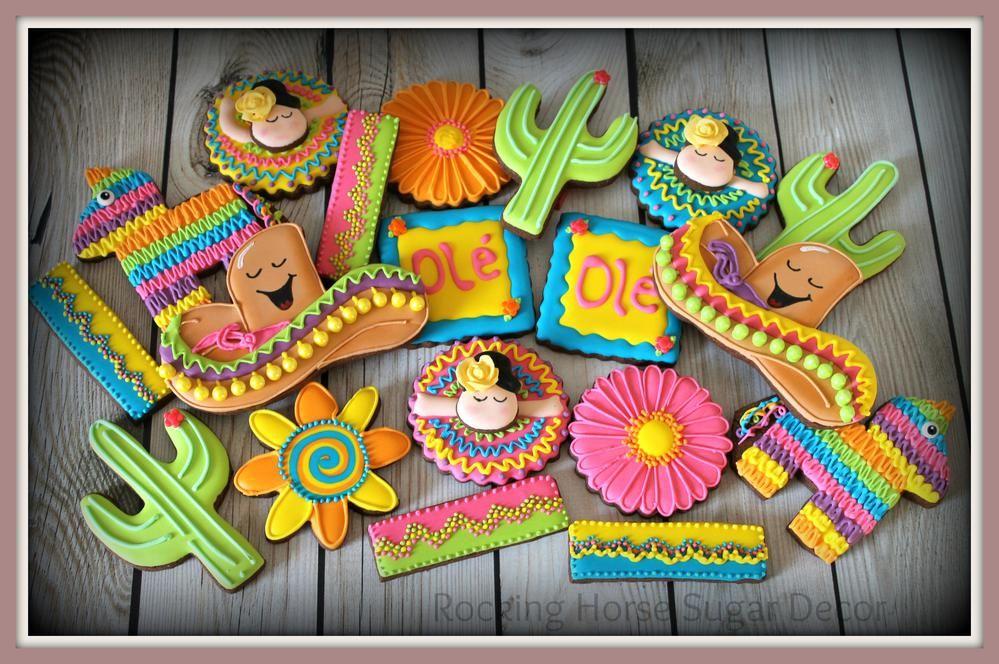 Cinco de Mayo   Sugar cookies decorated, Mexican theme ...