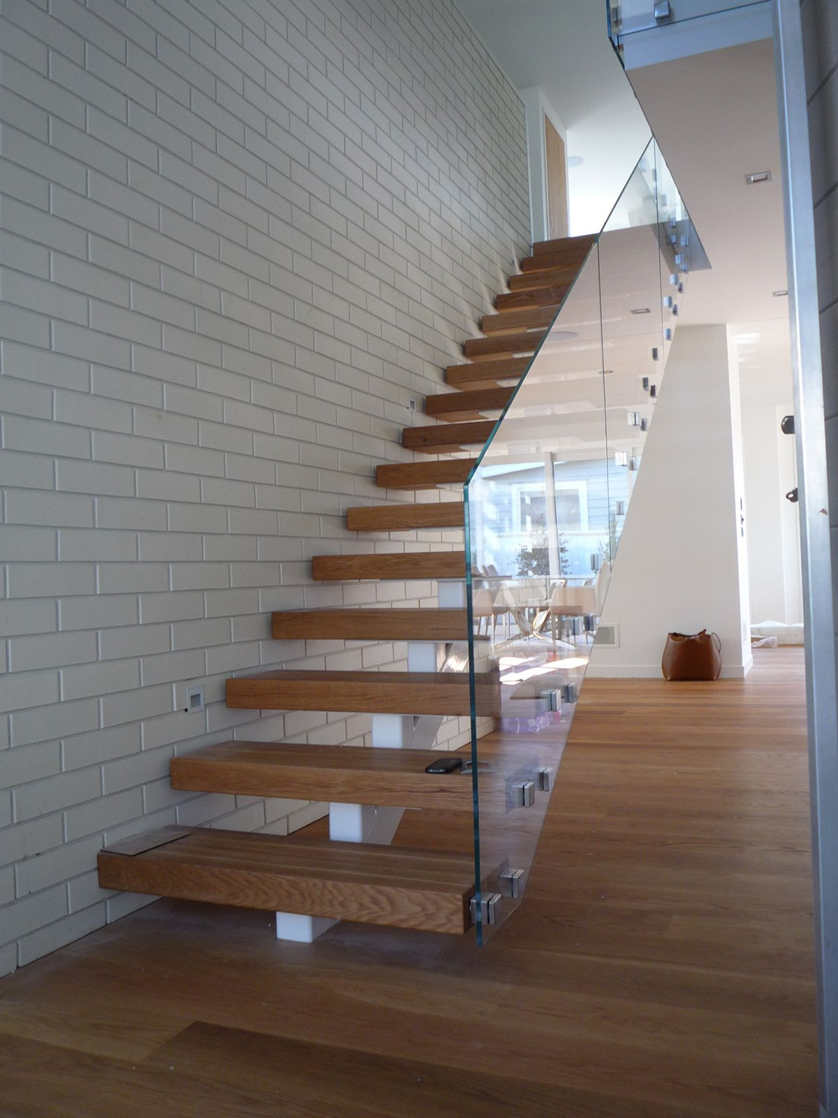 Pin On Floating Staircase Design Build | Floating Stairs With Glass Railing | Wall | Commercial | Glass Staircase | Thin Glass | Modern