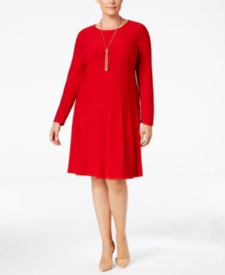 28901103c3 Jessica Howard Plus Size Fit   Flare Sweater Dress