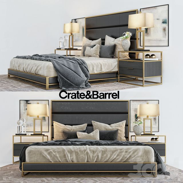 crate barrell oxford collection bed bedroom interiors in 2019 rh pinterest com