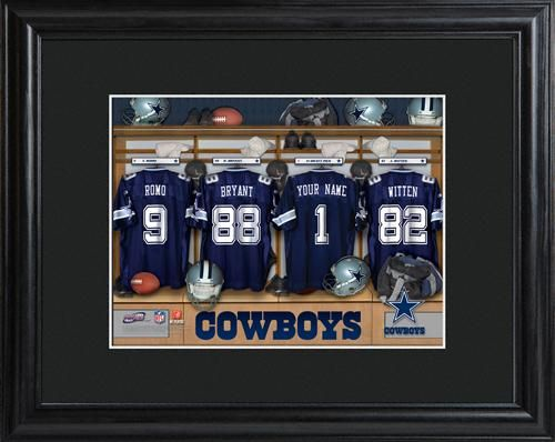 246d721e8 Personalized NFL Football Locker Room Print with Matted Frame