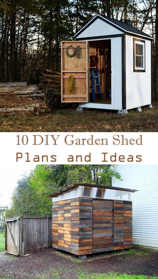 10 DIY Garden Shed Plans and Ideas Gardens, Tiny houses and Yards