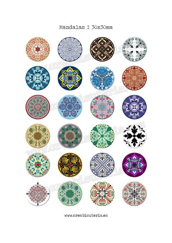 24 Imágenes de mandalas I 30x30mm