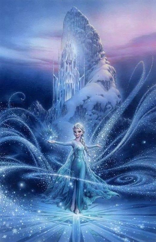 Royaume De La Reine Des Neiges : royaume, reine, neiges, Royaume, Glace, Dessin, Reine, Neiges,, Image, Neiges