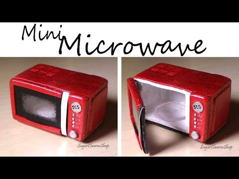 Miniature Microwave - That Opens - Polymer Clay Tutorial
