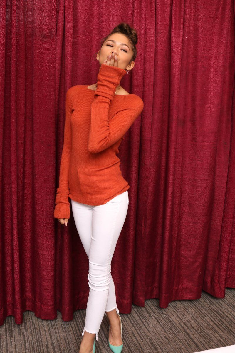Photo of Zendaya Orange Top