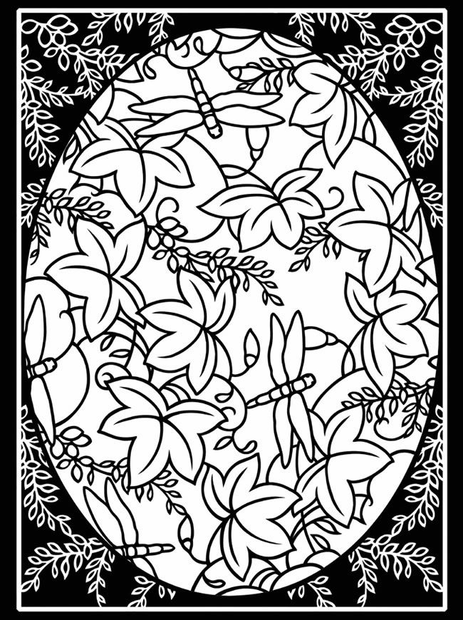 Free Sample Coloring Page From Artful Eggs Around The World Stained Glass Book